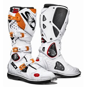 Sidi Crossfire Stiefel 2 weiss-orange