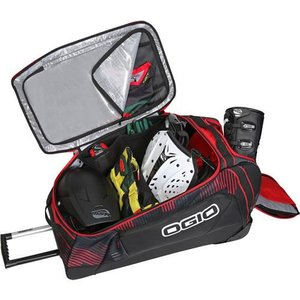 Ogio Big Mouth Wheel Bag Stoke Reisetasche in schwarz-rot