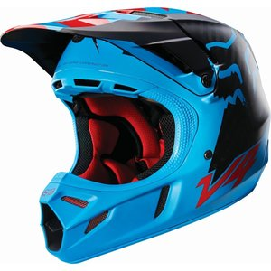 FOX V4 Libra Helm in blau