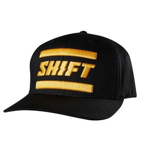SHIFT 3LACK Label Flexfit Hat BLACK Schwarz L/XL