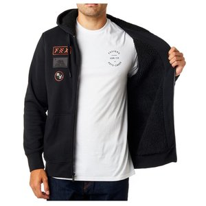 Fox Rostrum Sherpa Fleece Zip Schwarz