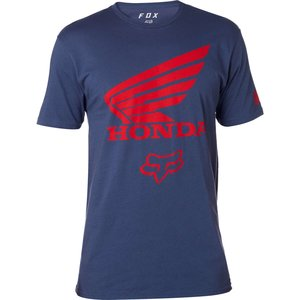 Fox Tech T-Shirt Honda Blau Rot