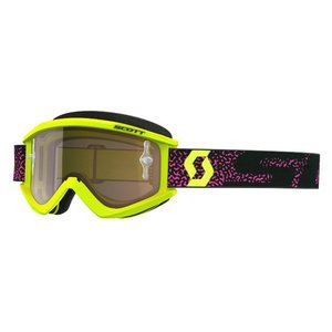 Scott MX Brille Recoil XI Works Neon gelb Pink  Chrome Gold