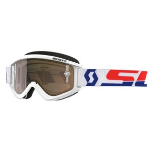Scott MX Brille Recoil XI Works Weiß Rot  Chrome Gold