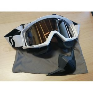 Scott Tyrant Snowcross Weiß Chrome ACS