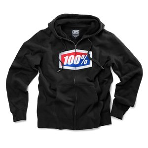 100% Zip Hoody Official Schwarz
