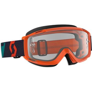 Scott MX Brille Split OTG Orange Türkis Works