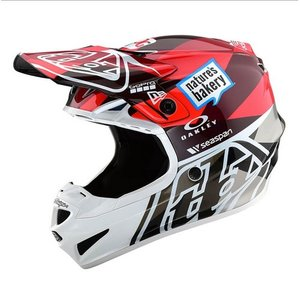 Troy Lee Designs SE4 Helm Jet Replica Orange/Grau