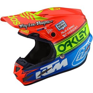Troy Lee Designs SE4 Helm Team Edition 2 Orange Blau